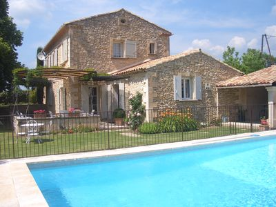 Photo for Goult  Provencal Stone House with a Large Private Heated Pool