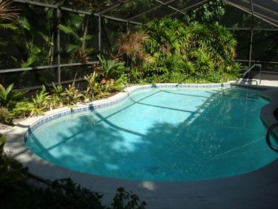 heated pool within lanai