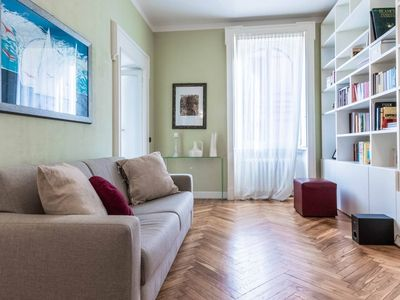 Photo for Conchetta apartment in Navigli with WiFi & air conditioning.