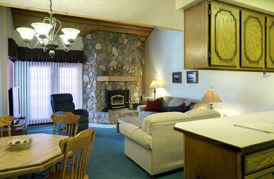 Photo for Large comfy condo with amazing slope views! Ski in/out, WiFi, cozy fireplace!