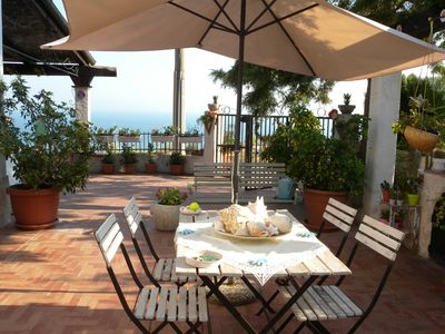 Photo for Villa I Pini Five - park with a terrace and beautiful sea view