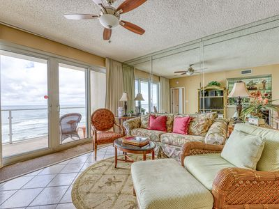 Photo for Private balcony on the coast, views of the gulf, resort amenities!