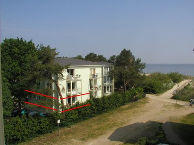 Photo for Holiday apartment with balcony, located at the beach directly