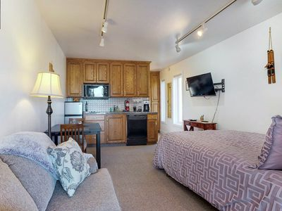 Photo for NEW LISTING! Cozy studio condo near skiing and town - close to everything!