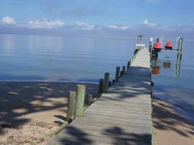 Photo for Peaceful Waterfront Getaway with Sandy Beach and Pier
