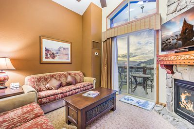 Enjoy the luxury of resort amenities, ski-in/ski-out in this Westgate Resort Penthouse Condo