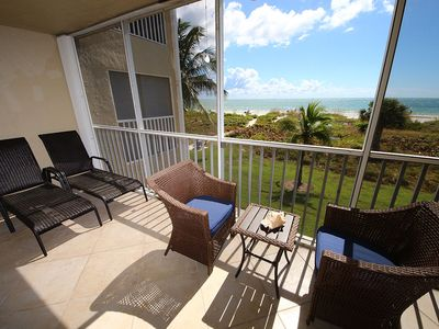 Photo for Two Bedroom Gulf Front Condo, Located off of Middle Gulf Drive - Sanibel Surfside 116