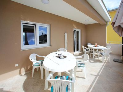 Photo for One bedroom apartment with terrace and sea view Bibinje, Zadar (A-17269-a)