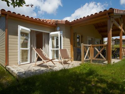 Photo for Three-Bedroom Chalet in Domaine with Pool and Bathing Lake