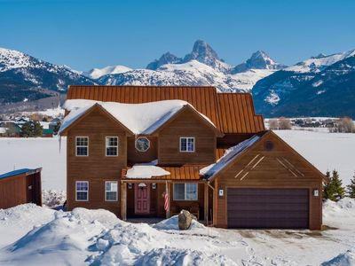 Photo for ♥ Large Family home with full Teton views and hot tub