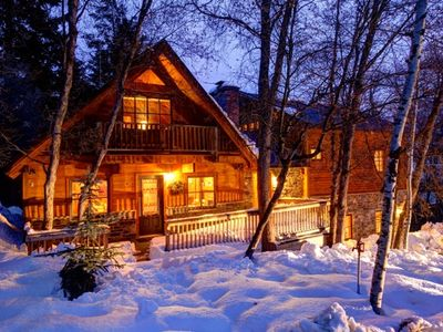 Photo for Spacious 3-story, 4-bdrm Luxury Cabin at Sundance
