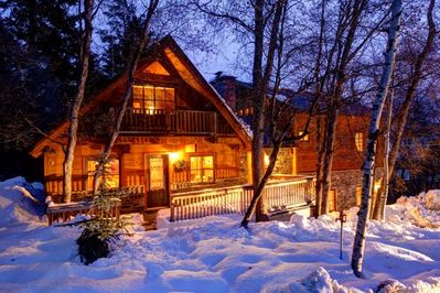 Cabin Front in Winter