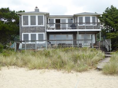 Photo for Ocean front beach home! Private beach/volleyball court, hot tub, beautiful views
