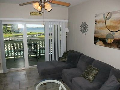 Photo for New Listing! Bayfront Condo with Pool and Bay Views! Easy Access to Pensacola Be