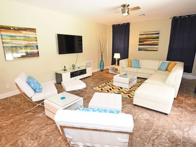 Photo for Home near Disney & Beach w/ WiFi, Pool, Gameroom, Spa, Resort Pool & Playground