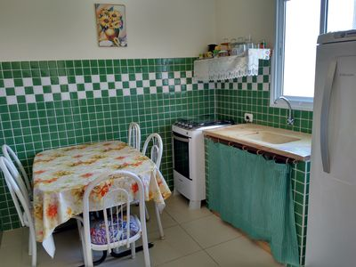 Photo for Apartment 600 meters from the beach, furnished, full kitchen.