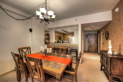 Large dining room open to the kitchen With ample seating