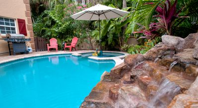 Photo for Luxury Anna Maria Island Home w/Private Pool, Waterfall; 3 Bedrooms/3 Full Baths
