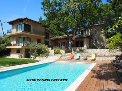 Photo for Luxury house with TENNIS quiet isle sur sorgue provence luberon
