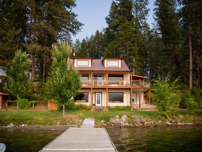Photo for 3 Bedroom Home On Waitts Lake With 150 Feet Of Lake Front