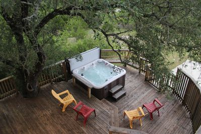 Relax and unwind in this fabulous hot tub!