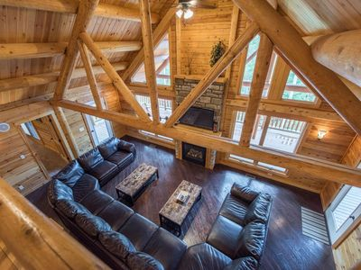 Photo for Secluded~Extra Large Hot Tub~3 Large decks~Wifi~Game Room~Master Suite