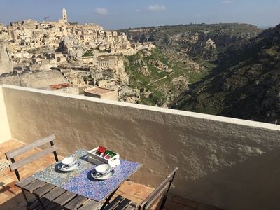 Photo for RupeSuiSassi is a typical house of the Sassi of Matera with a splendid view.