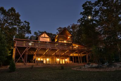 Night View of the Cabin