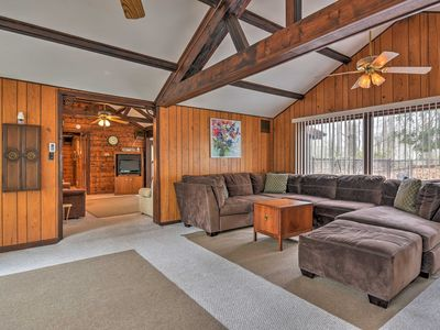 Photo for Rustic Lake Harmony Home w/ Fire Pit & Hot Tub!