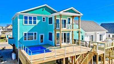 Photo for 2019 exquisitely built detailed OCEANFRONT home, 4 Master Suites, a 5ft. deep 11x17 i pool