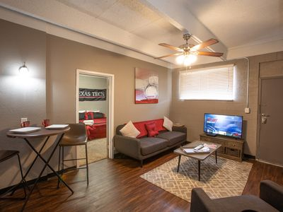 Photo for ~Red Raider Rental | Walk too Tech | 1BR ~