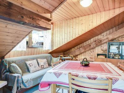"""Photo for Charming Apartment """"Mansarda tra le Dolomiti di Brenta"""" (CIPAT number: 022018-AT-058837) with Mountain View & Balcony; Parking Available, Pets Allowed upon Request"""