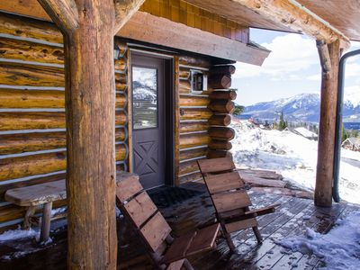 Photo for Cowboy Heaven Cabin - Private Hot Tub, Amazing Views, in Moonlight Basin!