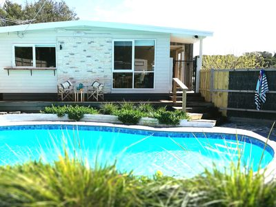 Photo for Osenia Blue Boutique Retreat Rye Classic Modern 1950's Beach House with Pool