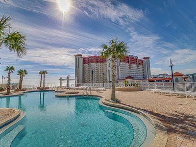Photo for NEW LISTING! Beautiful, waterfront condo w/ gulf view, shared pool & hot tub