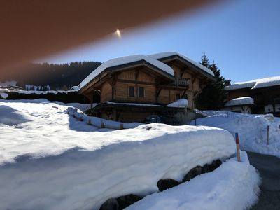Photo for Chalet Megève Rochebrune - 3ch. 6 people 140 m2 - 100m slopes and 500m center