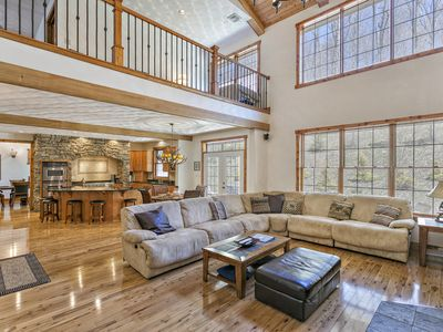 Photo for MAJESTIC MOUNTAIN MANOR at 7 SPRINGS - 7,700 SQ.FT! 6BR 6BA (Sleeps up to 30)