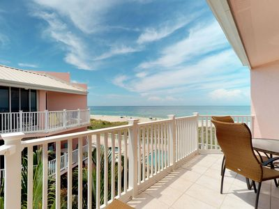 Photo for Direct Gulf front beach condo w/ private hot tub, shared pool, balcony views!