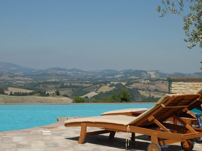 Photo for La Corte del Gusto - Villa The Stable with Infinity Pool and an Amazing View
