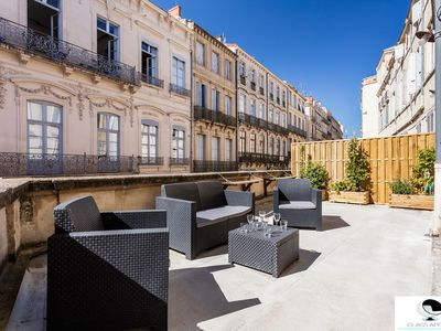 Photo for Apartment with huge terrace St Guilhem