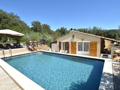 Photo for Holiday villa with private swimming pool at 600m from the river Cèze in the Gard