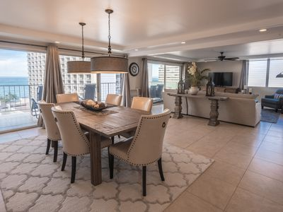Photo for NEW! Luxury 2-Bedroom Waikiki Penthouse with Ocean Views, Free Parking and WIFI