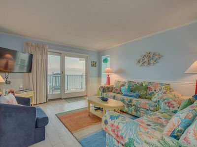 Photo for Nicly Remodeled oceanfront condo, walking distance to restaurants & shops