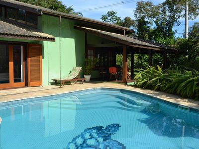 Photo for Beautiful house with pool, 100 meters from the beach in Prumirim