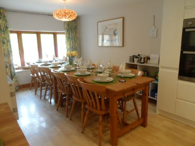 Dining table set for 12