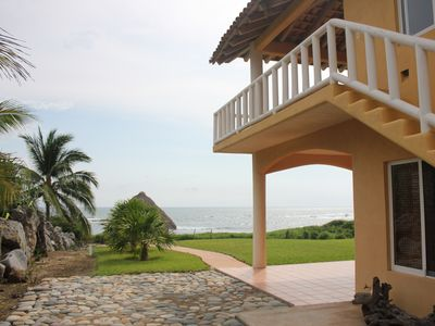 Photo for Tranquil La Saladita Beach Front Property