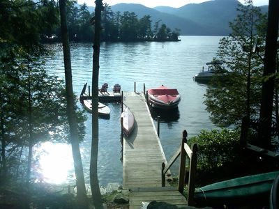 Photo for Waterfront Adirondack Cottage on Lake George