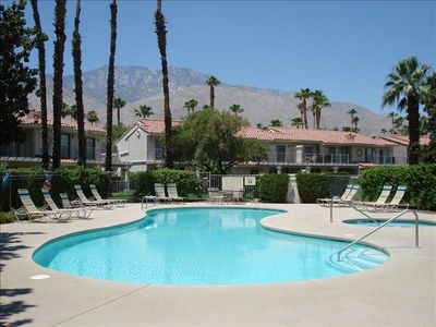 YOUR POOL & HOT TUB, WITH A BEAUTIFUL  VIEW OF THE MOUNTAINS.