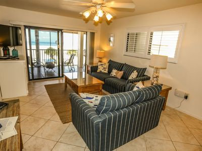 Photo for Welcome to Carlos Pointe 316.  Let this be your peaceful, relaxing, beachfront retreat while vacationing here on Fort Myers Beach