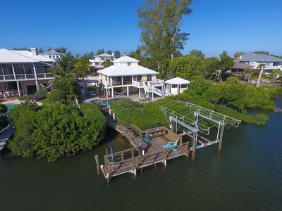 Photo for Luxury 4 Bedroom pool home close to beach, private dock on Kettle Harbor.